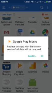 delete system apps android